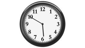 Horloge avec des chiffres arabes 720 cadres (cadre pour chaque minute) HD 1080 boucle D'isolement sur le blanc illustration stock