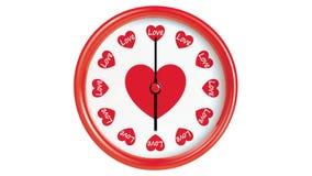 Horloge avec des coeurs illustration libre de droits