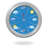 Horloge avec des graphismes de temps Photo stock