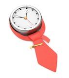 Horloge avec la cravate Photographie stock