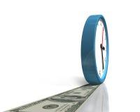 Horloge avec la manière d'argent Images libres de droits