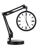 Horloge avec le bras Photo libre de droits