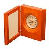 Horloge avec le cadre de photo d'isolement sur le blanc Photo libre de droits