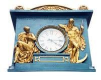 Horloge avec le décor. Images libres de droits