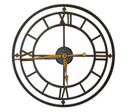 Horloge avec les chiffres romains Photographie stock