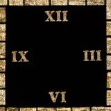 Horloge avec les chiffres romains Photo stock