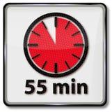 Horloge avec 55 minutes illustration libre de droits
