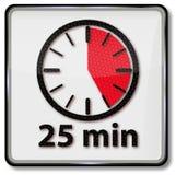 Horloge avec 25 minutes illustration de vecteur