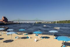 Horloge beach in Montreal Canada stock photo