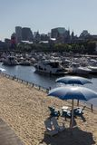 Horloge beach in Montreal Canada royalty free stock images