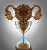 Horloge biologique femelle illustration de vecteur