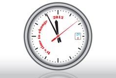Horloge blanche Photographie stock