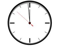 Horloge blanche Images stock