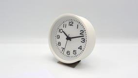 Horloge blanche Photographie stock libre de droits