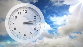 Horloge blanche banque de vidéos