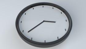 Horloge blanche noire - image courante Photos stock