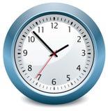 Horloge bleue Image libre de droits