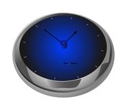 Horloge bleue 2 Photo stock