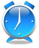 Horloge bleue Images stock