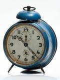 Horloge bleue de vintage Photos libres de droits