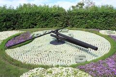 Horloge célèbre de fleur, borne limite de Genève Images stock