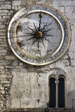 24 heures d'horloge de ville Photo stock