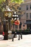 Horloge célébrée de la vapeur de Gastown à Vancouver Photos stock