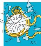 Horloge cassée Photographie stock libre de droits