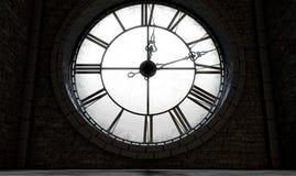 Horloge éclairée à contre-jour antique Photographie stock libre de droits