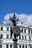 Horloge décorative à Kazan Images libres de droits