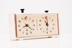 Horloge d'échecs Photographie stock