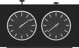 Horloge d'échecs. Images libres de droits