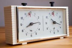 Horloge d'échecs Photos libres de droits