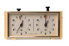 Horloge d'échecs de l'URSS Photographie stock libre de droits