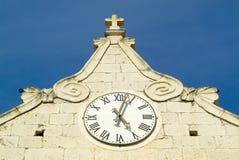Horloge d'église Photographie stock libre de droits