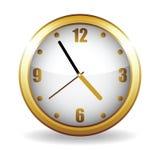 Horloge d'or Photographie stock libre de droits