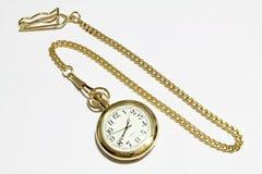 Horloge d'or Photo libre de droits