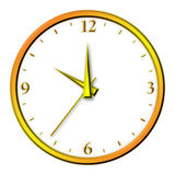 Horloge d'or illustration stock