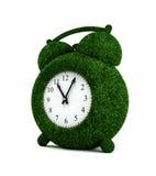Horloge d'alarme 3 d'herbe Photos libres de droits