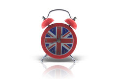 Horloge d'alarme anglaise Image libre de droits