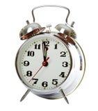 Horloge d'alarme argentée Photographie stock