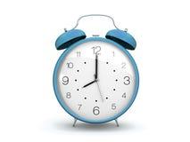 Horloge d'alarme bleu-clair Image stock