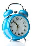 Horloge d'alarme bleue Image libre de droits