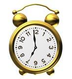 Horloge d'alarme classique sur le blanc Photographie stock