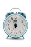 Horloge d'alarme cyan Photos stock