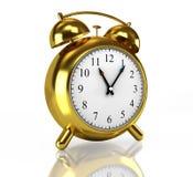 Horloge d'alarme d'or Photos libres de droits