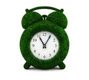 Horloge d'alarme d'herbe Images libres de droits