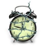 Horloge d'alarme de barbelé Photo stock
