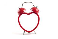Horloge d'alarme de coeur Image stock