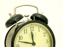 Horloge d'alarme de cru image stock